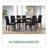 PU PARSON DINING SET